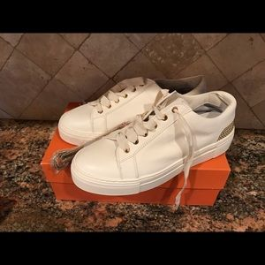 AGL cream gold studs sneakers 39.5 9 new
